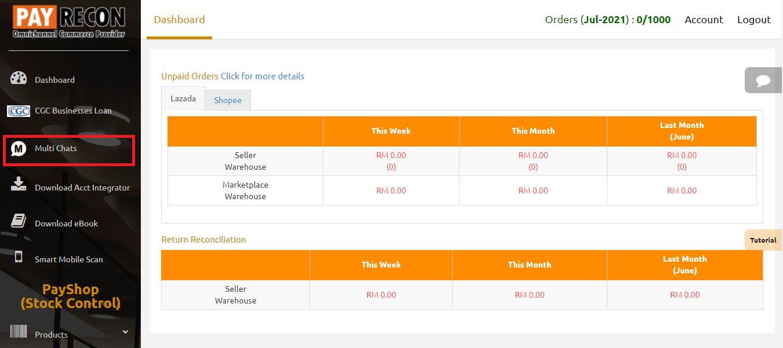 payrecon multichannel e-commerce chat download guide