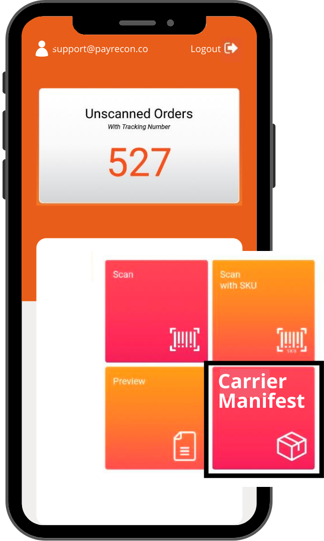 payrecon smart scan mobile app for multichannel e-commerce 9