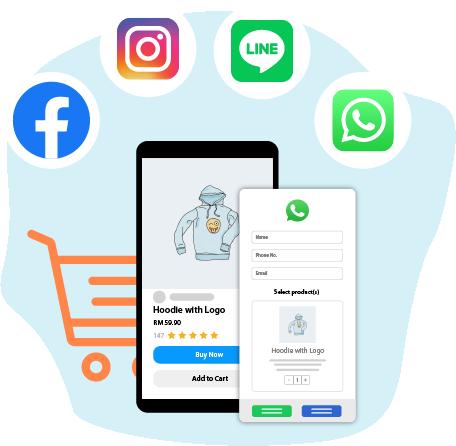 payrecon social commerce platform for multichannel webstores