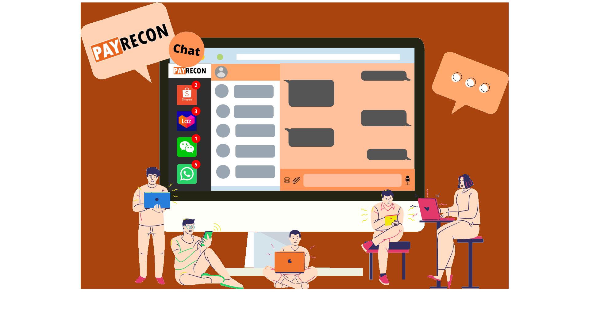 payrecon multichannel e-commerce chat system